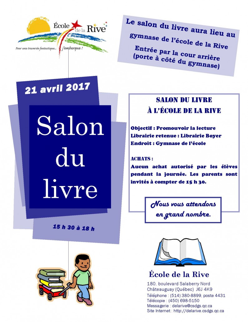 Salon du livre - Publicité - Avril 2017